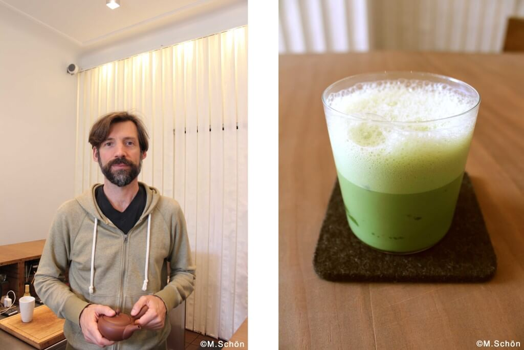 matcha in berlin Portrait & MatchaLatte