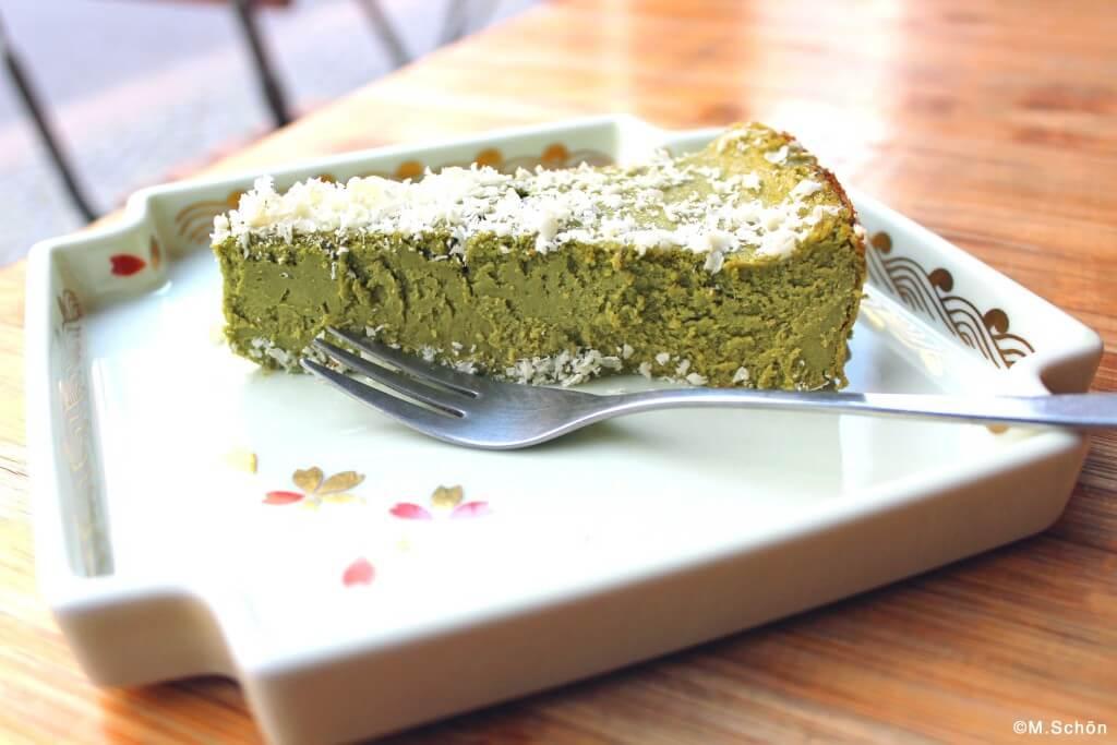 Matcha Cheesecake im Mamecha Berlin