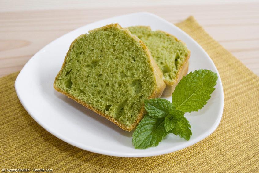 Rezept mit Matcha-Pulver: Matcha-Kuchen