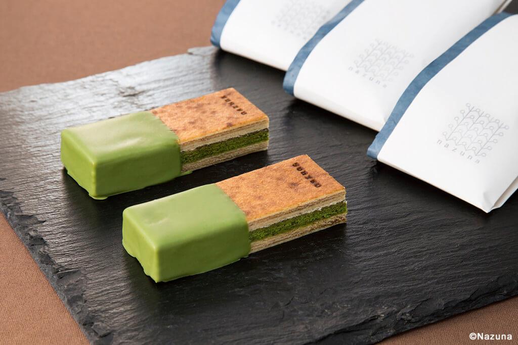 Baumkuchen mit Matcha-Schokolade
