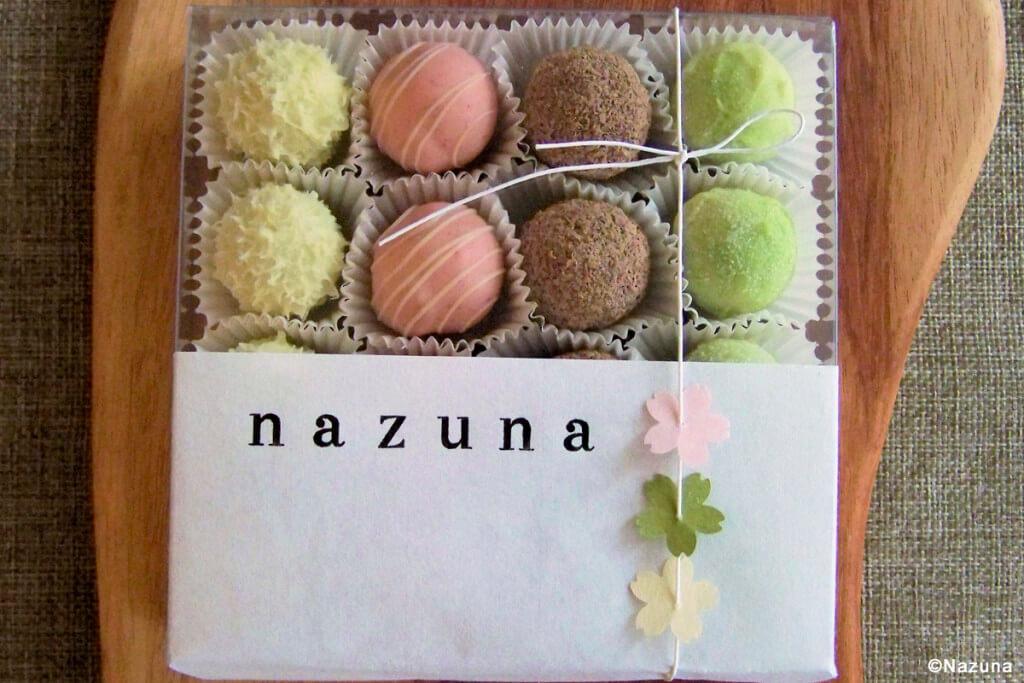 Matcha-Pralinen aus der japanischen Chocolaterie Nazuna in Berlin