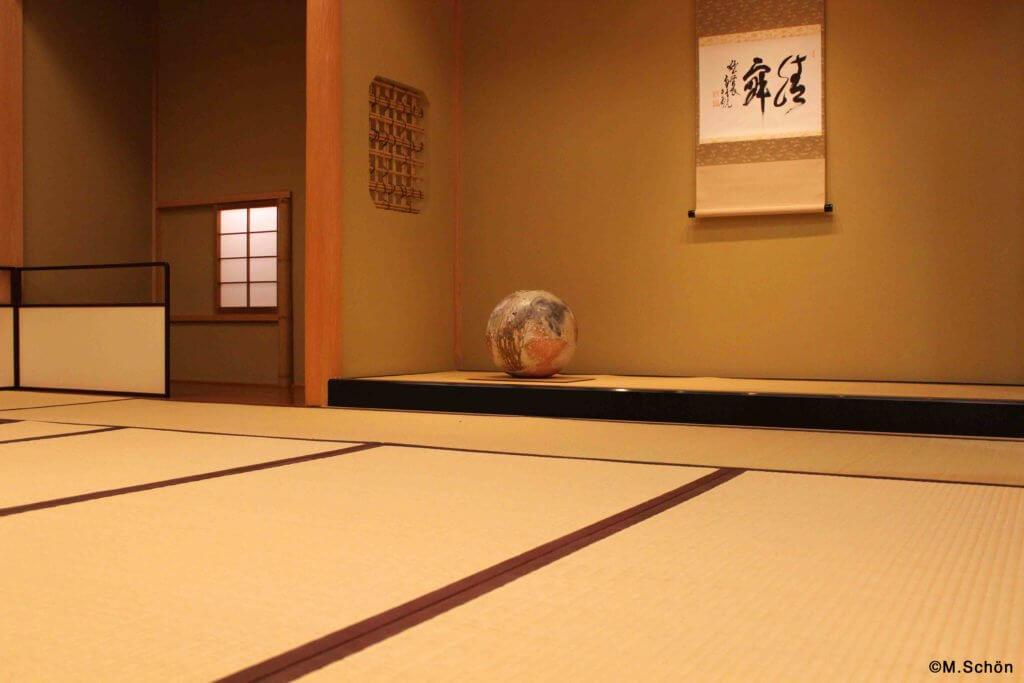 Japanische Teezeremonie-Teeraum