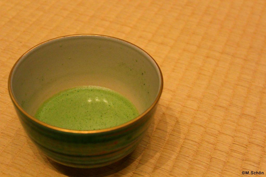 Matcha Schale in der japanischen Teezeremonie