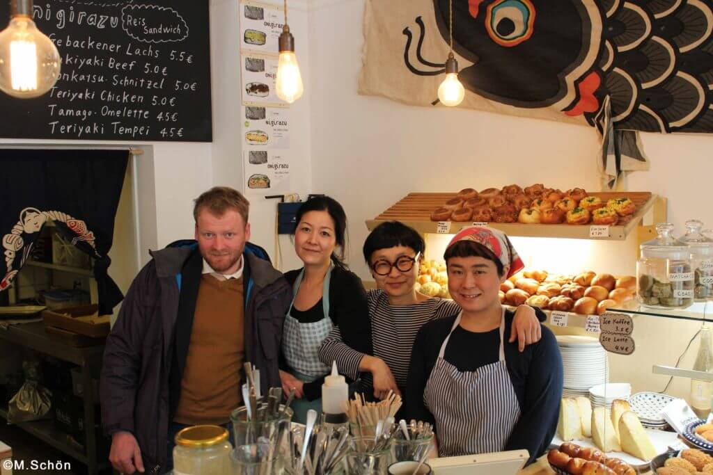 Das Team der japanischen Bäckerei Kame aus Berlin