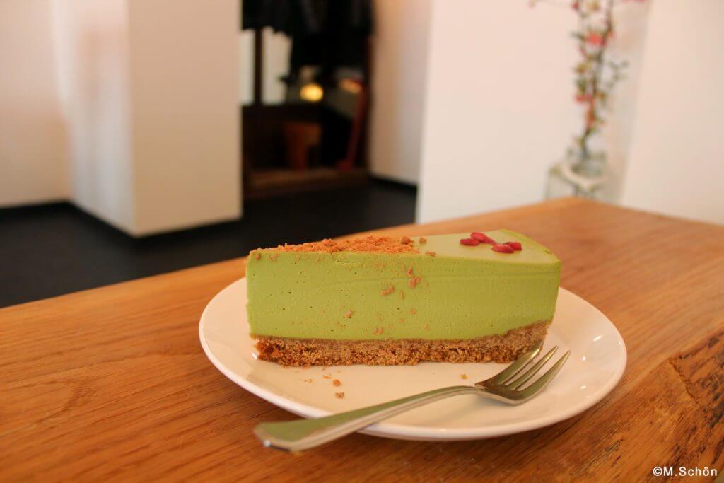 Matcha-Käsekuchen - japanisches Café Kame