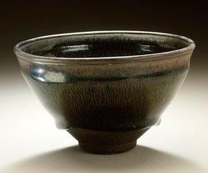 Chawan in schwarzem keramik